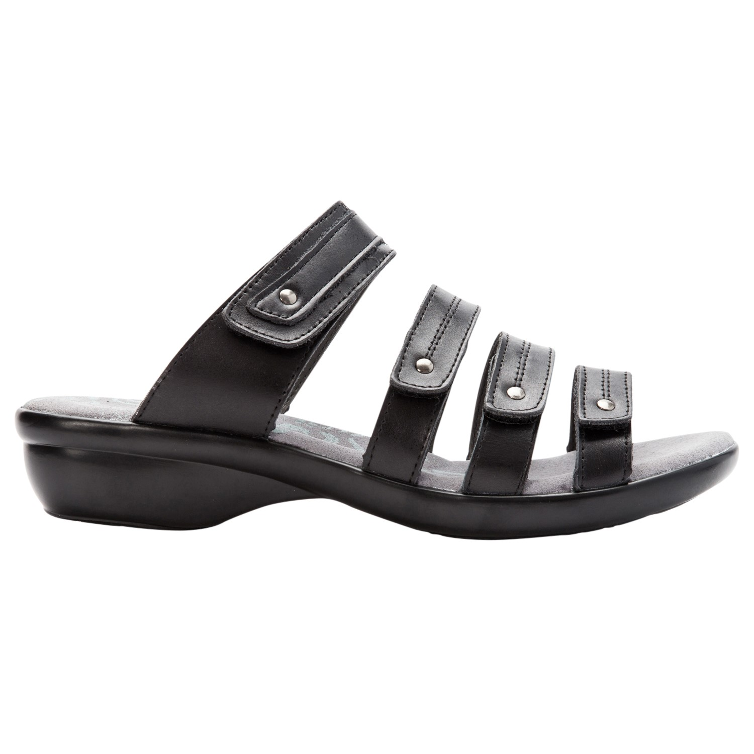 230ad6720e4 Propet Aurora Slide Womens Sandal - Black - out-step view