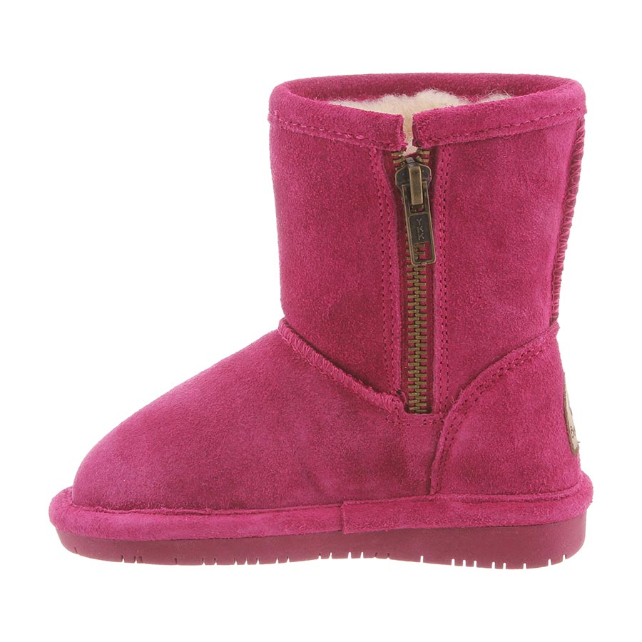 8c19107abfd01 Bearpaw Emma Toddler Zipper - 5 Inch Kid s Boots - 608TZ - Pomberry side  with zipper