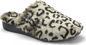Vionic Gemma Luxe Orthotic Support Slipper Grey Leopard