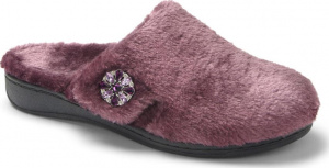 Vionic Gemma Luxe Orthotic Support Slipper Plum