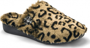 Vionic Gemma Luxe Orthotic Support Slipper Tan Leopard
