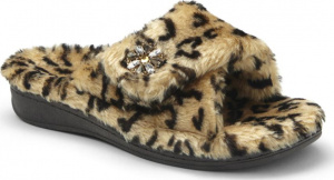 Vionic Relax Luxe Orthotic Support Slipper Tan Leopard