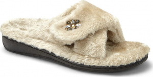 Vionic Relax Luxe Orthotic Support Slipper Taupe