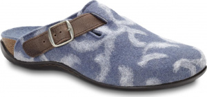 Weil Flores Wool Orthotic Mule by Orthaheel Blue