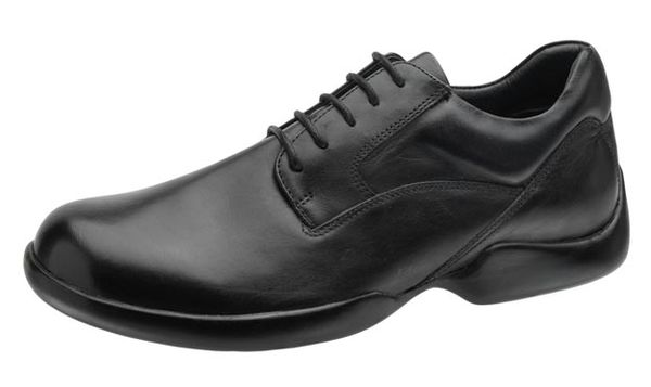 Aetrex Gramercy G500 - Plain Toe Black Lace Up (Mens) - profile view