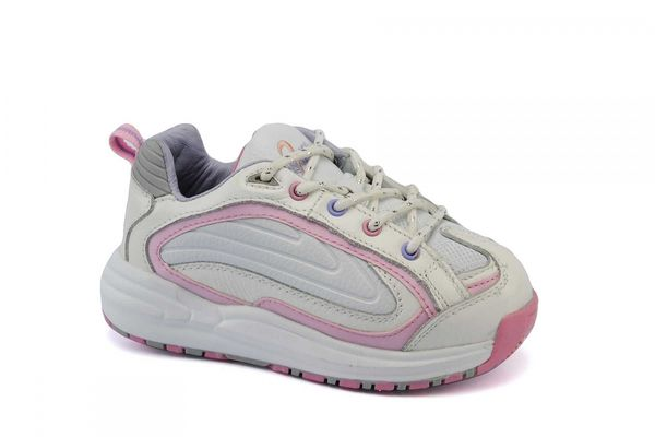 Answer2 224-3 - Girl's Youth orthopedic shoe - White/Pink Main Angle