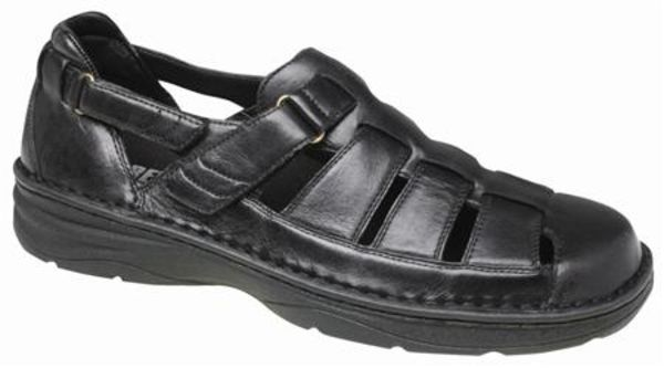 Drew Springfield - Black Mens Orthotic Sandals - 47749