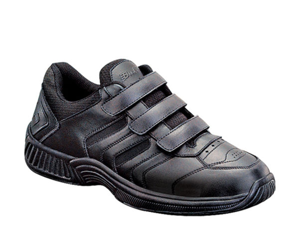 Orthofeet Men's Athletic - Strap Shoes - orthofeet-650-black-651