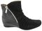 Earthies Pino - Women's Mid-height Side Zip Boot - Black