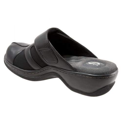Softwalk Action - Women's Comfort Clogs - Black - back34