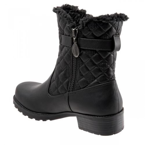 Trotters Blast III - Women's Cold Weather Boot - Black Quiltd - back34