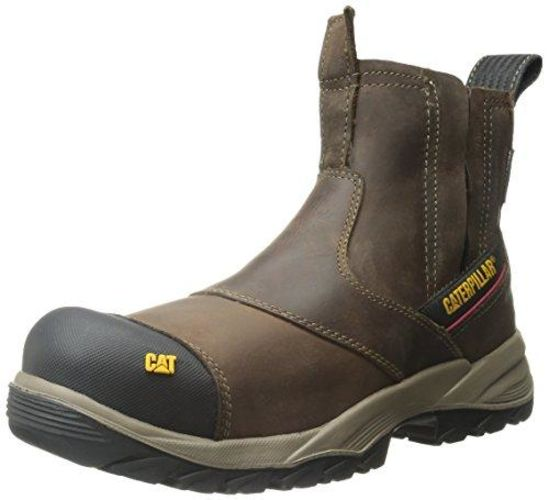 Caterpillar Jointer Waterproof Composite Pull Up Work Boot Toe Mens Clay - Clay