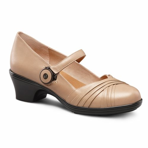 Dr. Comfort Cindee Women's Classic Heels - Taupe main