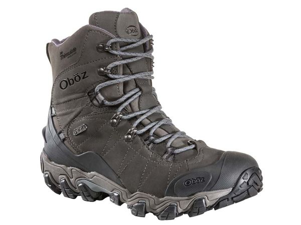Oboz Bridger 8 Inch Insulated Men's Waterproof Hiker - Dark Shadow Angle