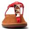 Vionic Rest Nala  - Women's T-strap sandal - Red - 6 front view
