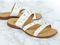 Revitalign Playa Slide Women's Comfort Sandal - White angle pair