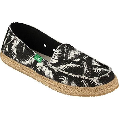 Sanuk Funky Fiona Women\'s Casual Sidewalk Surfer - Black Hazy Palms