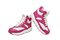 Mt. Emey Children's Orthopedic High-Top Slip Resistant Sneakers by Apis - Rosy Red/White