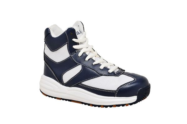 Mt. Emey Children's Orthopedic High-Top Slip Resistant Sneakers by Apis - Navy/White