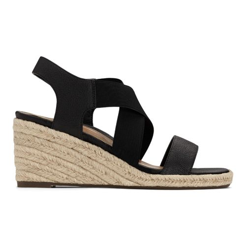 Vionic Tulum Ainsleigh - Women's Wedge Sandal - 4 right view Black