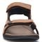 Vionic Moore Neil - Men's Orthotic Sandals - 6 front view Dark Brown