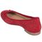 Earth Allegro - Women's Comfort Ballet Flat - Bright Red - back