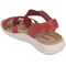 Earth Bali - Women's Sporty Comfort Sandal - Bright Red - back