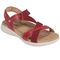 Earth Bali - Women's Sporty Comfort Sandal - Bright Red - quarter main
