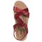 Earth Bali - Women's Sporty Comfort Sandal - Bright Red - top