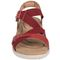 Earth Bali - Women's Sporty Comfort Sandal - Bright Red - front