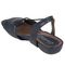 Earthies Lacona - Women's Dressy Comfort Sandals - Navy - back