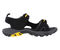 Pacific Mountain Osoyoos Men's Outdoor Comfort Sandal - Black/Yellow side