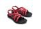 Olukai Kalapu Girl's Supportive Sandals - Hibiscus / Dk Shadow - Pair
