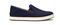 Olukai Kahu - Men's Slip-On Comfort Shoe - Trench Blue / Off White - Profile