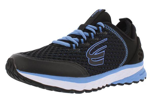 Spira Phoenix Women's Running Shoes with Springs - Black / Light Blue - 1