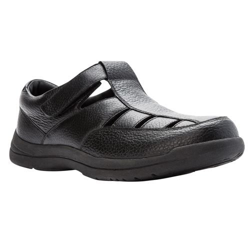 Propet Bayport Mens Sandal - Black - angle view - main