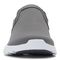 Vionic Brisk Blaine - Women's Active Slip-on Sneaker - Charcoal - 6 front view