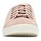 Vionic Sunny Brinley - Women's Water Resistant Suede Sneaker - Light Pink - 6 front view
