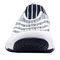 Propet Wash N Wear SlipOn Knit Womens Slip Resistant - White/Navy - front view
