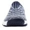 Propet Wash N Wear SlipOn Knit Womens Slip Resistant - Navy/White - front view