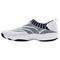 Propet Wash N Wear SlipOn Knit Womens Slip Resistant - White/Navy - instep view