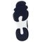 Propet Wash N Wear SlipOn Knit Womens Slip Resistant - Navy/White - sole view