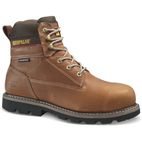 Caterpillar Idaho Waterproof Steel Toe Work Boot Men's CAT Footwear - Walnut - Angle Main