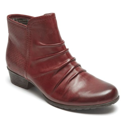 Rockport Cobb Hill Gratasha Panel Boot - Women's - Bordeaux - Angle