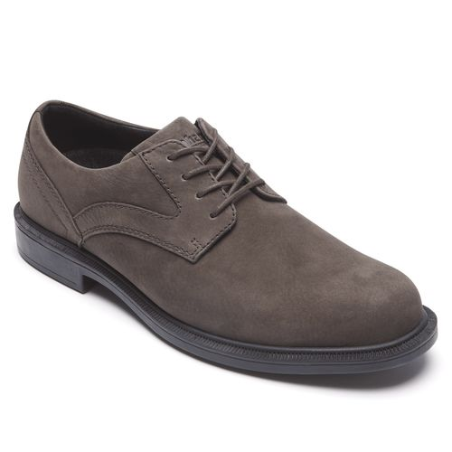 Dunham Jericho Oxford - Men's Dress Shoe - Smoke Nubuck - Angle