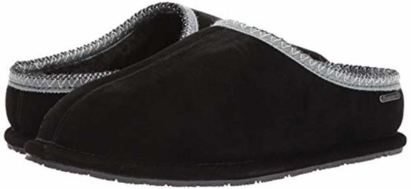 Bearpaw Joshua - Men's Suede Step-in Slipper 2061M - Black