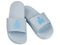 Ironman Women's Makai Supportive Shower Slide - Lt Grey/Sky Blue - Pair