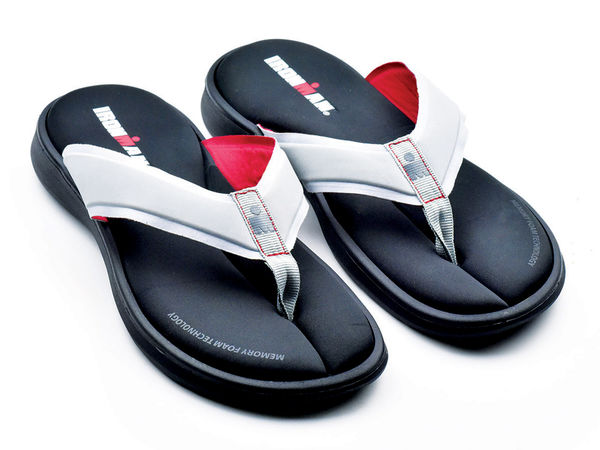 Ironman Men's Lani Supportive Recovery Flip Flop - Grey/Rosso - Main