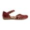 Earth Cahoon - Women's Mary Jane Sandal -  CAHOON 602947WLEA Regal Red 02