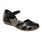 Earth Cahoon - Women's Mary Jane Sandal - Black - Profile